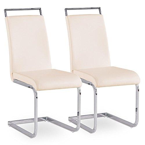 2er Set Esszimmerstuhl Küchenstühle Polsterstuhl Freischwinger Stuhlgruppe