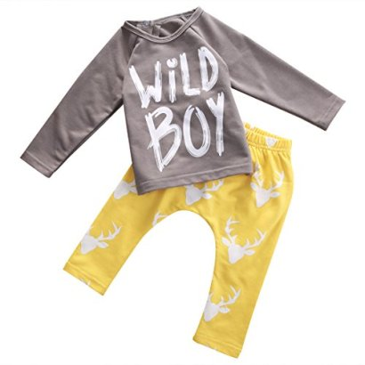 Baby-Boys-Spring-Autumn-Long-Sleeve-Wild-Boy-T-shirt-and-Pants-Outfit-10018-24M-Greyyellow