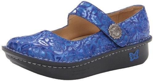 Alegria Women's Paloma Flat,Blue Patent,35 EU/5-5.5 M US