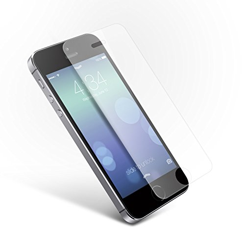 Coolreall ガラスフィルム iPhone5/ iPhone5C/ iPhone5S/iPhoneSE用 液晶保護 フィルム 透明クリア9H 0.33mm 2.5D