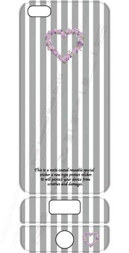 ビクターアドバンストメディア iPhone5/5S デザイナーズデコレーションシール KL-I5HEART-O