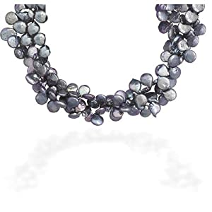 Double Strand Cultured Freshwater Peacock Baroque Pearl Necklace