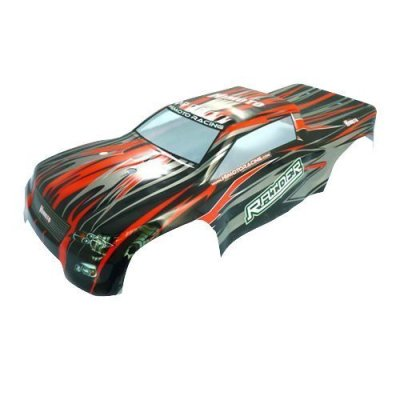 Iron-Track-Atomik-RC-Truck-Body-Black-Red-for-Iron-Track-Raider-RC-Monster-Truck-Vehicle-parallel-import-goods
