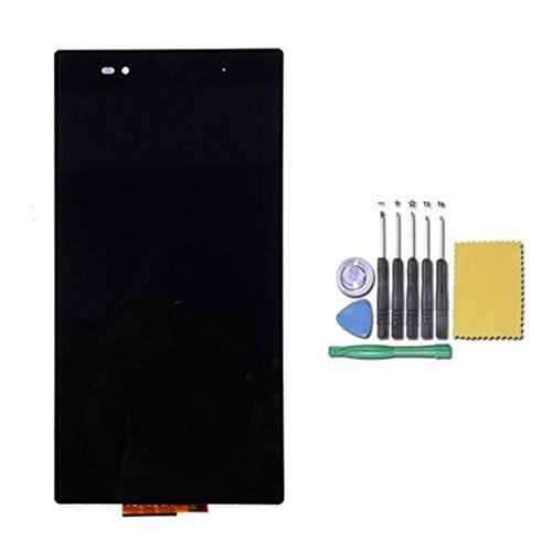 尚智通 For ソニーZ Ultra LCD フロントパネルセット 液晶パネル セット タッチパネル 液晶LCD 交換パーツ 修理交換用  For Sony Xperia Z Ultra XL39H LT39h C6802 C6833 6.44インチ