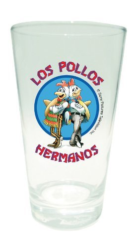 Breaking Bad Pint Glass LOS POLLOS HERMANOS