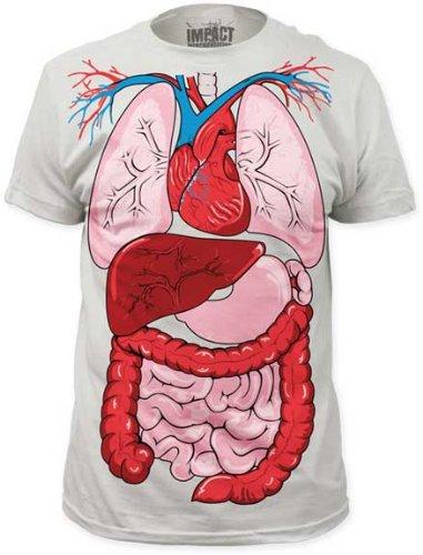 Impact Originals Anatomy Men's White T-shirt S