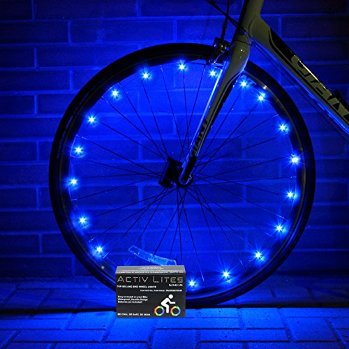 Super Cool Blue LED Bike Wheel & Frame Lights