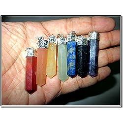 Chakra Pencil Point Pendant Gemstone Healing Set Reiki Chakra Balancing Good Luck