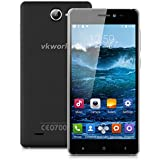 5.0'' VKWORLD VK700X IPS 3G Smartphone Android 5.1 MT6580 Quad Core 1.3GHz Cellulare Dual SIM 1GB/8GB Intelligente Sveglia GPS WIFI Nero