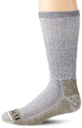Carhartt Men's Full Cushion Steel-Toe Synthetic Work Boot Socks, Heather Grey, 10-13 Sock/6-12 Shoe