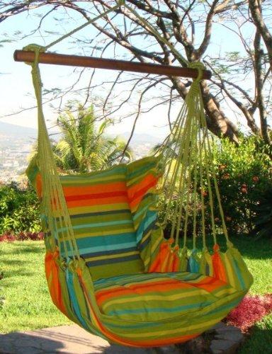 Hängesessel Karibik groß inkl. 2 Kissen von HEBA-Germany