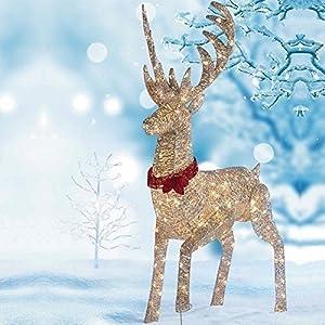 "64""(1.6M) LED Reindeer Outdoor/Indoor Christmas Decoration ... on Backyard Decorations Amazon id=98461"