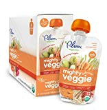Plum Organics Tots Mighty Veggie Food, Carrot/Pear/Pomegranate/Oats, 4 Ounce (Pack of 6)