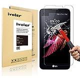 LG X Screen Pellicola Protettiva, iVoler® Pellicola Protettiva in Vetro Temperato per LG X Screen - Vetro con Durezza 9H, Spessore di 0,2 mm,Bordi Arrotondati da 2,5D-Shockproof, Trasparenza ad alta definizione, Facile da installare- Garanzia a vita