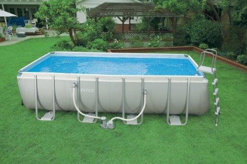Intex 54481EG 9-Feet by 18-Feet by 52-Inch Ultra Frame Rectangular Frame Pool Set