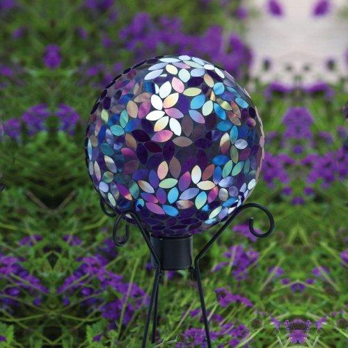 Evergreen Garden Flower Petal Mosaic Gazing Ball