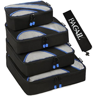 Bagail-Travel-Luggage-Packing-Organizers-with-Laundry-Bag-Black-Set-of-4-Packing-Cubes