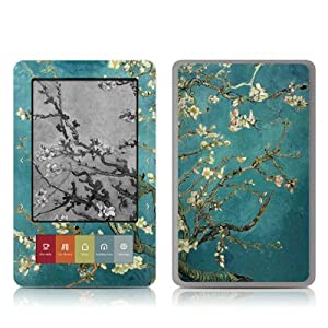 Van Gogh - Blossoming Almond Tree Design Protective Decal Skin Sticker for Barnes and Noble NOOK (Black and White LCD) E-Book Reader - High Gloss Coating