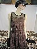 Leopard Minikleid,Minikleid ,Kleid mit Leopardmuster,Rockabilly,Brown Leopard