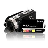 Besteker-Protable-HD-1080p-240-Megapixels-Enhanced-16X-Digital-Zoom-Video-Camcorder-DV-Touch-Screen-HDMI-Recorder-with-Remote-Control-and-12x-Teleconverter-Wide-Angle-Lens