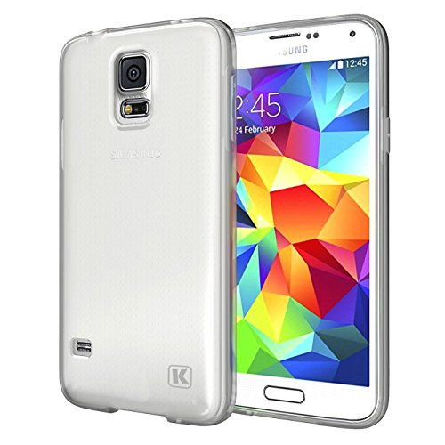 KAYSCASE Slim Soft Gel Cover Case for Samsung Galaxy S5 Smart Phone 2014 Version (Lifetime Warranty) (Frost Clear)