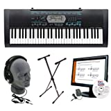 Casio CTK-2100 Keyboard Package with Stand, AC Adapter, Headphones and eMedia Instructional Software