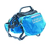 Outward Hound Kyjen  22009 Quick Release Backpack Saddlebag Style Dog Backpack, Medium, Blue