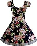 Pretty Kitty Fashion Navy Floral Abendgesellschaft Prom Mini Tea Kleid