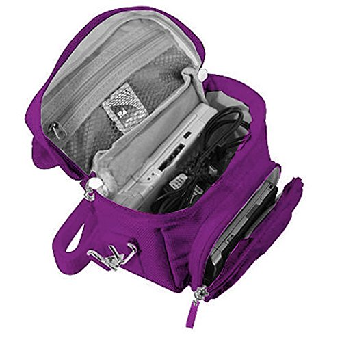 G-HUB Game & Console Travel Bag for Nintendo DS (Fits all Foldable Screen Versions including: Original DS / DSi / DS Lite / 3DS / 3DS XL / New 3DS / New 3DS XL) Purple