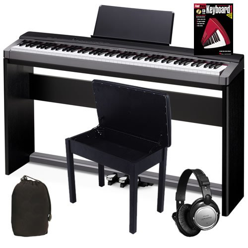 Casio PX-130 Digital Piano COMPLETE BUNDLE w/ Stand, Pedals & Bench