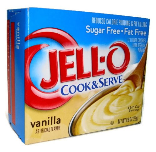 JellO Vanilla Pudding Sugar Free Cook Serve 4 Pack