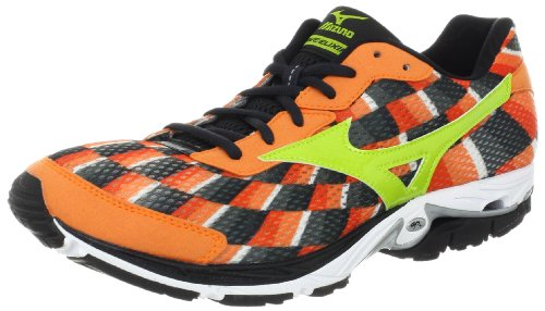Mizuno Men's Wave Elixir 8 Running Shoe,Vibrant Orange/Lime/Anthracite,10 D US