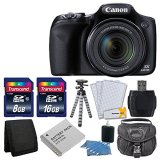 Canon-PowerShot-SX530-HS-160-MP-CMOS-Digital-Camera-with-50x-Optical-Image-Stabilized-Zoom-with-3-Inch-LCD-HD-1080p-Video-Black-Extra-Battery-24GB-Class-10-Card-Complete-Deluxe-Accessory-Bundle-And-Mu