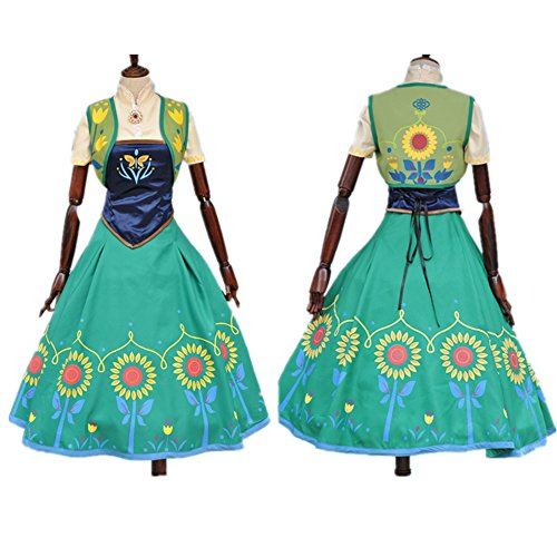 frozen fever anna costume for women