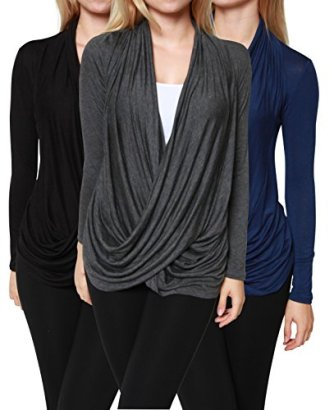 3-Pack-Free-to-Live-Womens-Lightweight-Criss-Cross-Cardigans-Made-in-USA