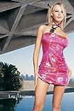 Leg Avenue Chinesisches sexy Brokat-Minikleid