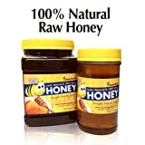 Natural Raw Honey, Fresh & Straight From the Farm - 100% Natural Honey - 1lb