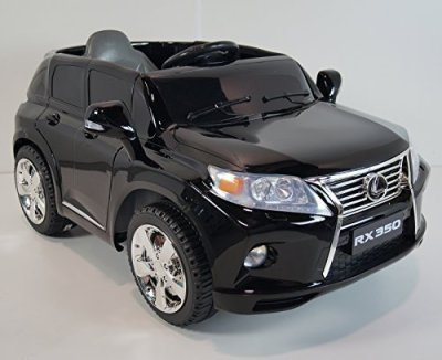 rideONEcarBattery-Operated-Ride-On-Toy-Car-For-Kids-LEXUS-RX350-SUV-Black