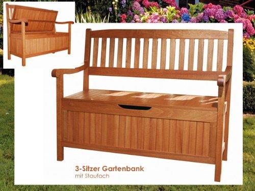 truhenbank holz gartenbank mit staufach 2 sitzer bank. Black Bedroom Furniture Sets. Home Design Ideas