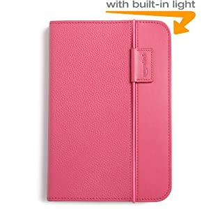 "Kindle Lighted Leather Cover, Hot Pink (Fits 6"" Display, Latest Generation Kindle)"