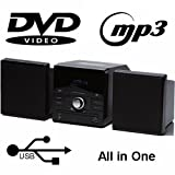 MEDION MD 82990 DVD Micro System USB MP3 Radio RDS OSD Scart S-Video AUX Mute Kindersicherung ° 2 x 12 Watt RMS ° PLL UKW ° 16:9