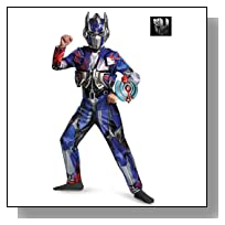 Disguise Hasbro Transformers Age of Extinction Movie Optimus Prime Deluxe Boys Costume, Small/4-6
