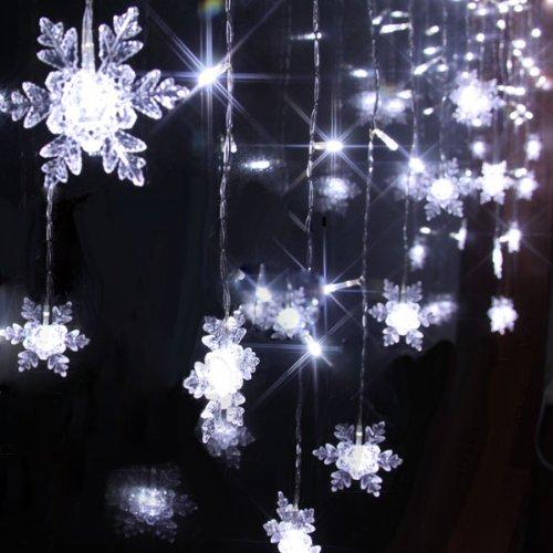 Solar Powered Icicle Christmas Lights