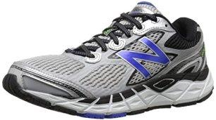 New Balance Men's M840V3 Running Shoe, Silver/Blue, 10 4E US