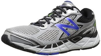 New Balance Men's M840V3 Running Shoe, Silver/Blue, 11 2E US