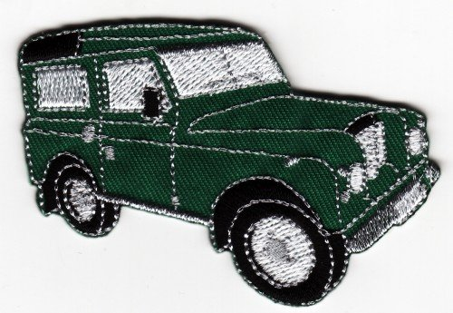 5116c5MGwtL - BEST BUY #1 Landrover Sew-on Iron-on Embroidered Patch Green Land Rover Badge