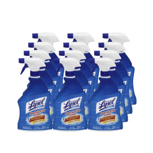 Professional Lysol Disinfectant Spray, Basin, Tub & Tile Cleaner, Citric Acid Formula, 32 Ounce (Case of 12)