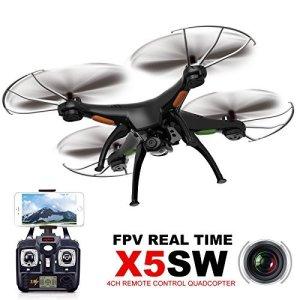 Syma-X5SW-meglio-di-X5C-4CH-24G-6-Axis-Gyro-Headless-Quadricottero-Support-Mobile-Phone-Apple-IOS-Android-Wi-Fi-Wifi-Control-FPV-HD-20MP-Fotocamera-360-degree-3D-Rolling-Mode-2-RTF-RC-Quadcopter-Batte