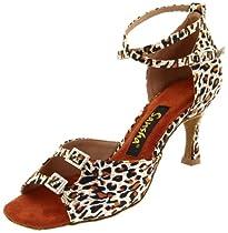 Leopard print ballroom heel by Sansha