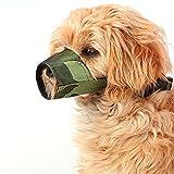 FUNOC® Nylon Pet Dog Safety Muzzle No Bite No Bark No Wrong Eating Dog Masks (Camouflage)